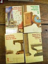 Anne Perry Défense et trahison Un deuil dangereux  4 livres éditions 10/18