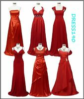 dress190 Red Full Length Formal Ballgown Prom Wedding Bridesmaid Evening Dress