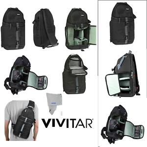Camera Sling Backpack Bag for Canon Nikon Sony DSLR Mirrorless by VIVITAR Photo