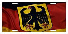 GERMANY Flag Custom License Plate GERMAN Emblem Deutschland Logo Version