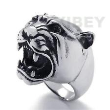 Men's Jewelry Stainless Steel Biker Ring Tigrish Leopard Puma Panther Jaguar Cat