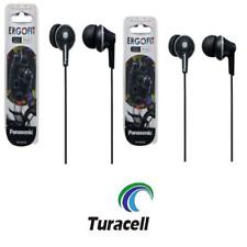 2 Panasonic RP-HJE125-K ErgoFit In-Ear Earbuds 3.5 MM Jack - BLACK (PAIR)