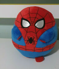 Ty Beanie Ballz Marvel Spiderman Ball Shaped Red Blue Silver