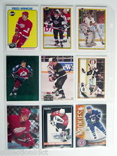 1990-2012'S LOT OF 9 HOCKEY CARDS + 1 PLASTIC SHEET FOR COLLECTORS ALBUM