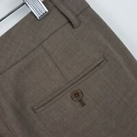 Express Editor Wide Leg Brown Women's Trouser Career Dress Pants Sz 4R - 30 x 33