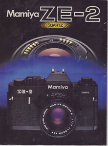 Mamiya ZE-2 Quartz Verkaufs – Prospekt   Produktbroschüre