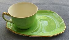 Royal Winton Pastel Ware Green Tea and Toast Snack Set Cup and Tray