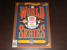 1991 WORLD SERIES BASEBALL PROGRAM TORONTO BLUE JAYS VS MINNESOTA TWINS UNSCORED