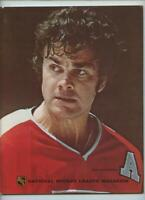 NHL Hockey Program 1973 Philadelphia Flyers New York Rangers Gary Dornhoefer