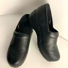 Sketchers Womens Size 11 Sure Track Slip Resistant Black Leather Work Shoes EUC