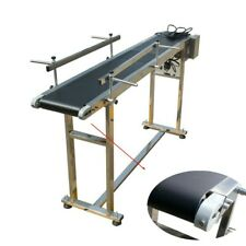 110V PVC Conveyor With Double Guardrail Stainless Steel 59inch Conveyor Length