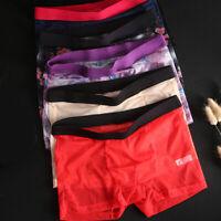 Male Boxers Boxershorts Sexy Ultra-thin Seamless Mid-rise Men Panties Underwear