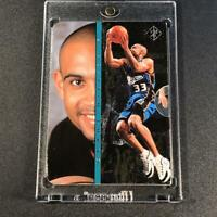GRANT HILL 1996 SP #IN4 INSIDE INFO PULL OUT FOIL INSERT CARD PISTONS NBA HOF