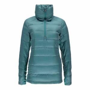 Spyder Teal Solitude Lightweight Down Warm 1/2 Zip Outdoor Jacket Coat XS £195