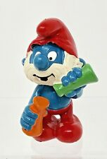 Smurfs Laboratory Papa Smurf Mixing Potions Rare Vintage Display PVC Figure