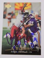 Aeneas Williams Cardinals Southern U Signed 1995 #227UPPER DECK Autograph 15A
