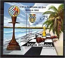 ROMANIA1992 SC#3748 CHESS OLYMPIAD   SOUVENIR SHEET MNH