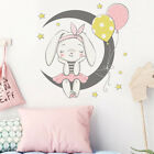 Cartoon Moon Rabbit Wall Stickers Kids Girls Room Home Decor Mural Art Decor Fo