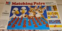 Vintage 1980s Matching Pairs MB games Family Board Game