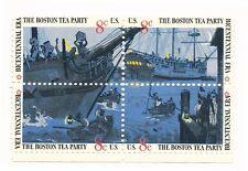 The Boston Tea Party, USA 8 cent, 4-Stamp Set, Unused, Scott #1480-83