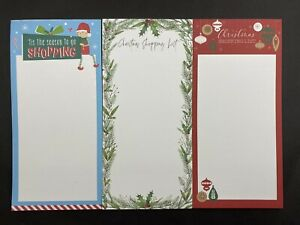 50 Sheet Fridge Magnetic Christmas Shopping List Things To Do List Note Memo Pad