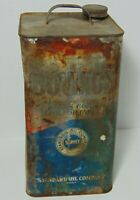 Antique Vintage 1930s COW LIVESTOCK BOVINOL STANDARD OIL COMPANY INDIANA OIL CAN