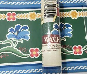 "Waverly Wallpaper Border Lot of  2 Rolls Spools Floral #565471 6.25"" Blue Green"