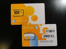 New At&T Gsm Standard 2Ff Sim Card New & Existing Prepaid And Postpaid Service