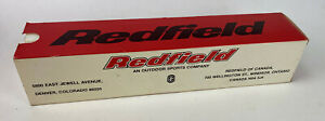 vintage Redfield 3x-9x Widefield Rifle Scope BOX REPLACEMENT