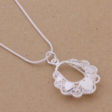 Top Qualität 925 Silber Halskette 45cm Herz Anhänger