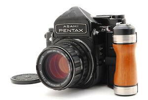 【EXC+5】Pentax 6x7 TTL Mirror Up 67 Grip, SMC Takumar 105mm f2.4 Lens, from Japan