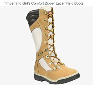 Timberland Tall Lacer Field Boots Wheat Suede Women's Size 6.5  #89971M/8091