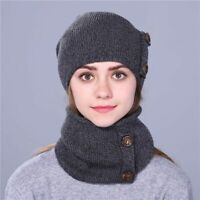 Fashionable Winter Hat For Women's And Men Knitted Beanie Scarf Thick Cap Trendy