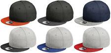 New Era 9FIFTY Shadow Heather Striped Flat Brim Snapback Hat Cap - Blank 950