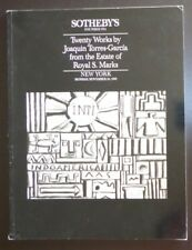 Auction Catalogue Sotheby's NY Twenty Works by Joaquin Torres-Garcia 11/20/89