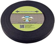 Country Brook Design® 3/4 Inch Black Heavy Polypro Webbing, 10 Yards