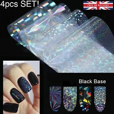 4pc X 20cm SET TRANSFER FOIL NAILS STICKERS Holo Glitter Holographic Decals UK