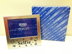 Satin matte Silver SELFIE Photo Frame Teenager Gift NEW gift box