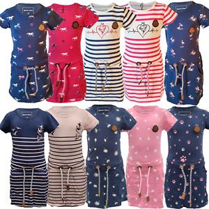 Mädchen Kleid Sommerkleid Größe 98-158 Pferde Flamingo NEU T-Shirt Kleid