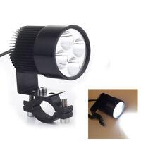 Feux Lampe Projecteur Spot 4 LEDs Lumière Blanc 12W pour Moto DC10-30V + Support