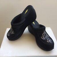 Volatile Women's Black Cross Platform Clogs Mules Shoes Sz. 7