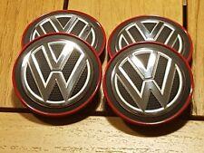 ### VW Golf 7 VII Clubsport Nabendeckel GTI Rot Nabenkappen Felgendeckel ###