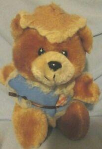 VINTAGE PLUSH STRAWBEAR SCARECROW TEDDY BEAR RUSS Brown