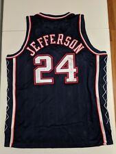 RICHARD JEFFERSON Reebok NEW JERSEY NETS Brooklyn AUTHENTIC Jersey 52 NBA Auto