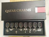 Set Of 8 Very Unusual  Charms From Qatar, bracelet, necklace, keep sake,
