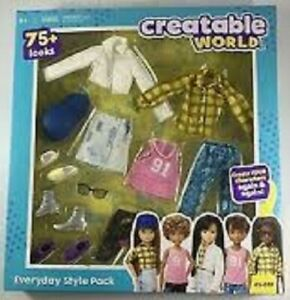 Creatable World Doll Clothes/Accessories Everyday Style Pack ES619 ES725 ES826