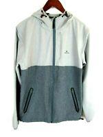Rip Curl Mens Jacket Hooded Rain Wind Full Zip Small Anti Series Gray Silver