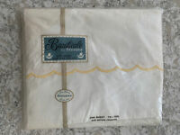 New 1950s Vintage Beauticale by Stevens Twin Flat Sheet Scalloped Border Cotton