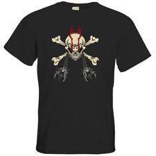 B&C Herren-T-Shirts mit Totenkopf-Motiv