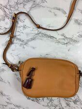 J.Crew Signet Bag In Italian Leather Zipper Crossbody Light Coffee *READ*